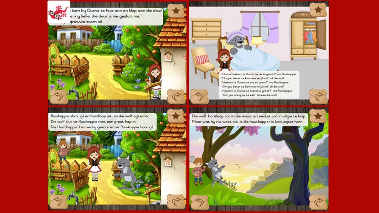 Rooikappie kinderstorie in afrikaans screenshot-3