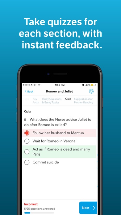 Screenshot 3 for SparkNotes's iPhone app'