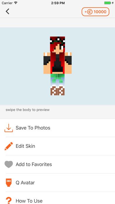 Cube Skin Girl app