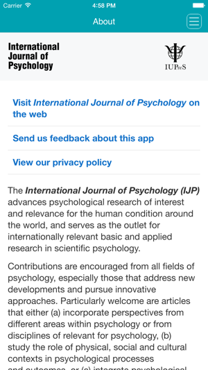 psychology research study articles