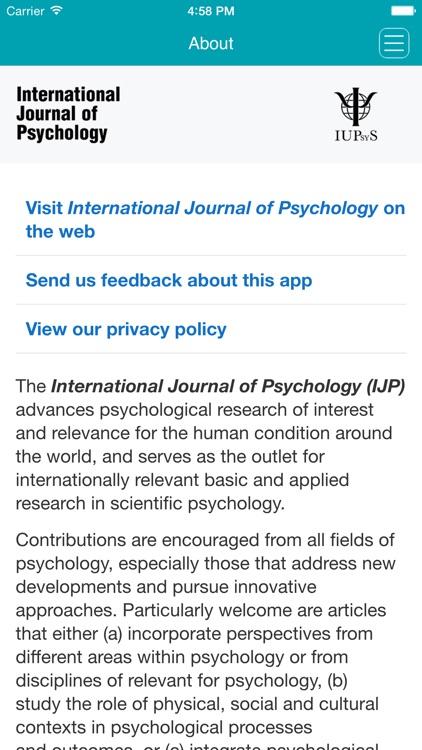 International Journal of Psychology screenshot-4