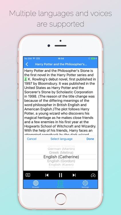 Web Voice Reader Pro - Speech web text&Listening