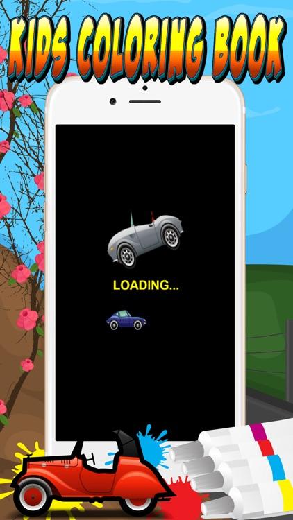 my cars games free coloring book app for kids screenshot-3