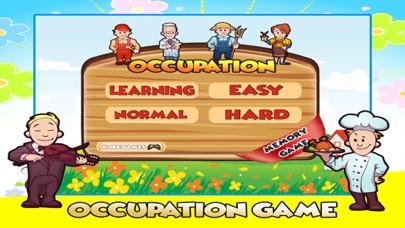 Occupation & Professions pre k memory match game