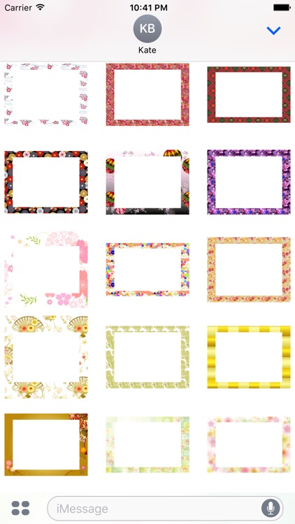 Japanese pattern frame sticker