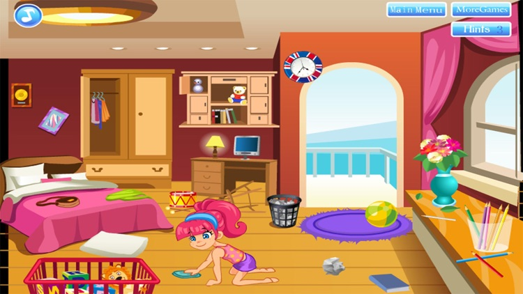 cleaning house decorating games girl for free screenshot-4