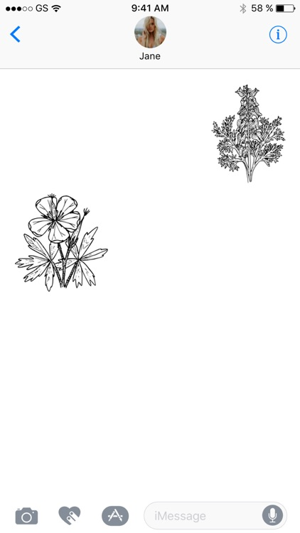 Flower Black and White Sticker Pack