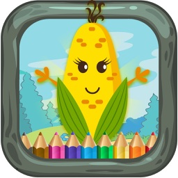 Vegetable kids coloring book