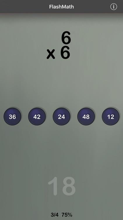 FlashMath (math flash cards) screenshot-1