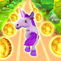 Unicorn Runner 3D - Little Unicorn Rainbow Rush
