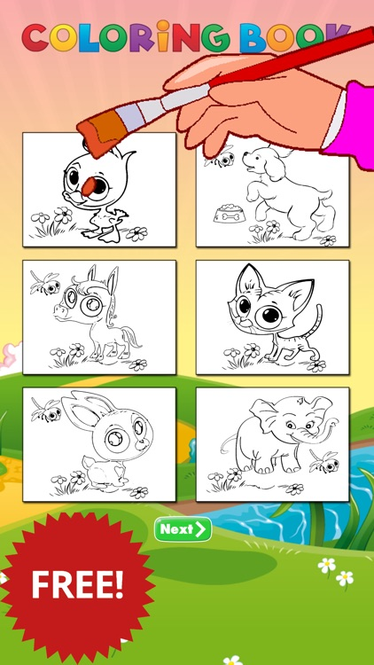 animal coloring page for kids