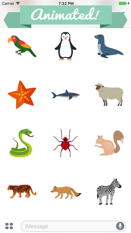 Animated Animal Stickers