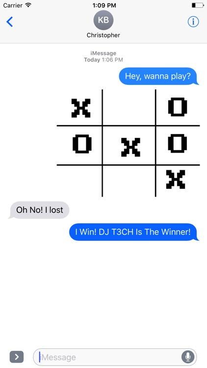 Tic-Tac-Toe Stickers