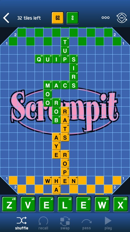 SCRUMPIT - a scrabble / crossword style board game screenshot-0