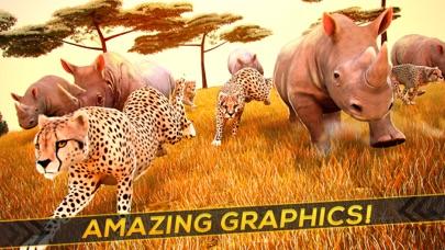 Wild Animal Simulator . Free Jungle Animals Racing Screenshot on iOS