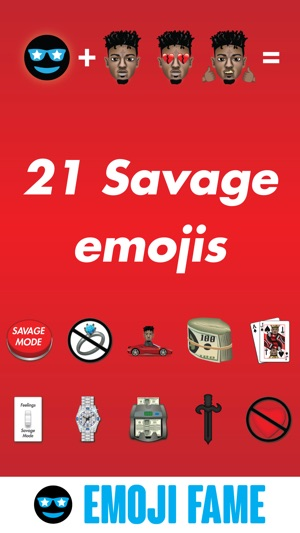 21 Savage by Emoji Fame on the App Store