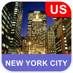New York City, USA Offline Map - PLACE STARS