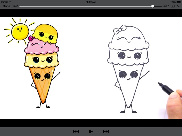 How to Draw Cute Foods for iPad