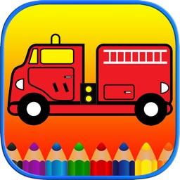 Kids Coloring Pages - Toddler Cars Transportation