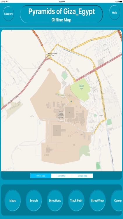Pyramids of Giza Egypt Offline City Map Navigation