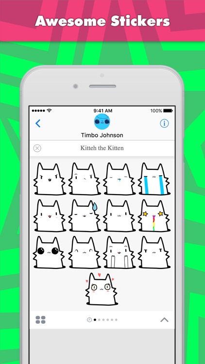 Kitteh the Kitten stickers by Timbo Johnson