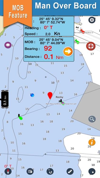 Sicily Island Nautical Charts screenshot-3