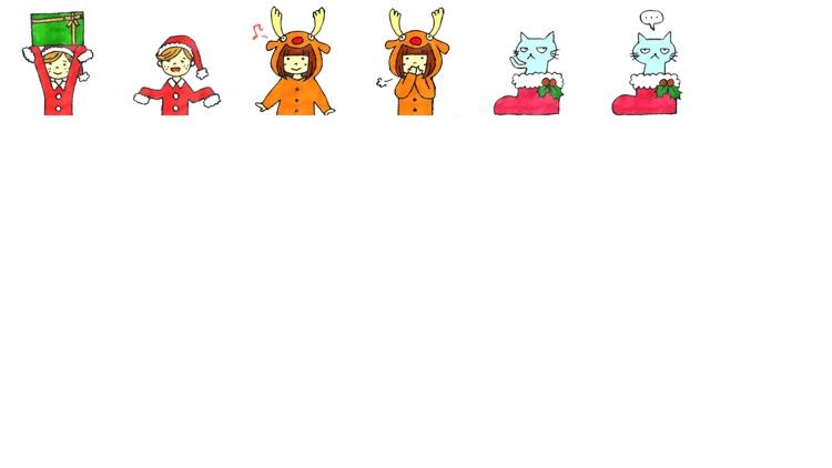 Happy Xmas Stickers -free-