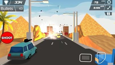 Fast Car Shooting Race - Cartoon Cars Asphalt Race screenshot two
