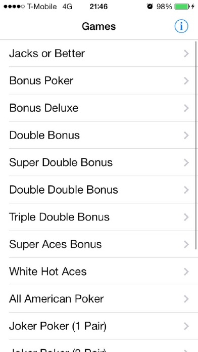 The Ultimate Video Poker Pocket Book review screenshots