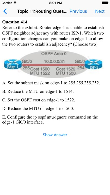 CCNA Question, Answer and Explanation