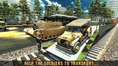 军队火车运输货物 - 驾驶模拟器 App 截图