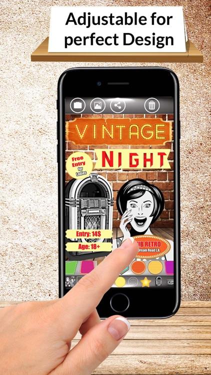 Flyer Vintage Design - Flyer Maker & Flyer Creator screenshot-3