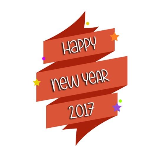 Happy New Year 20k17 Stickers