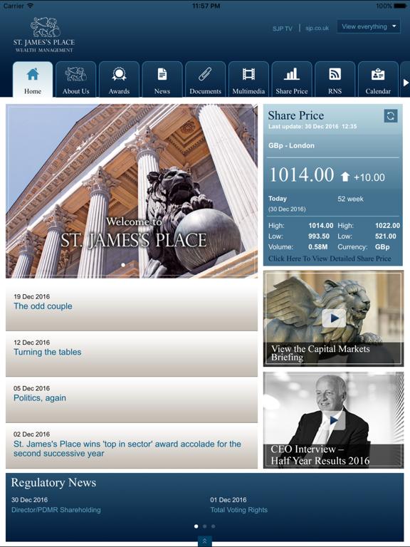 SJP Investor Relations screenshot one