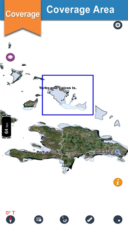 Turks & Caicos Is. Boaters Map