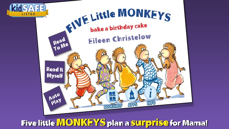 Five Little Monkeys Bake a Birthday Cake screenshot-0