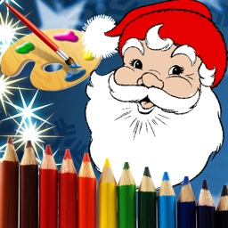 Christmas Santa Coloring Pages -Kids Coloring Book