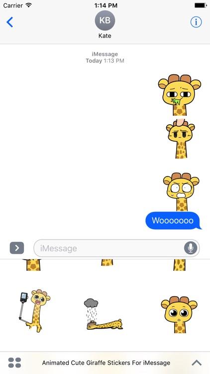 Animated Cute Giraffe Stickers For iMessage