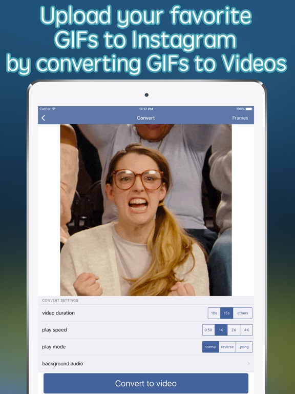 Screenshot #1 for GIF Upload for Instagram - upload your gifs to Ins