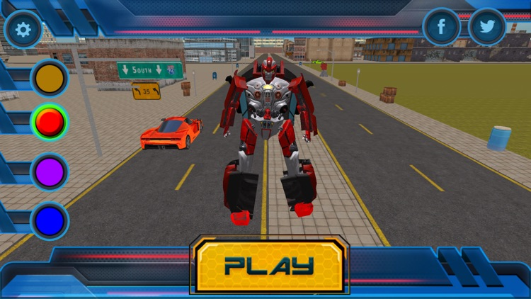 Futuristic Car Robot Rampage