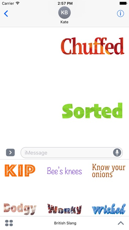 British Slang Stickers For iMessage