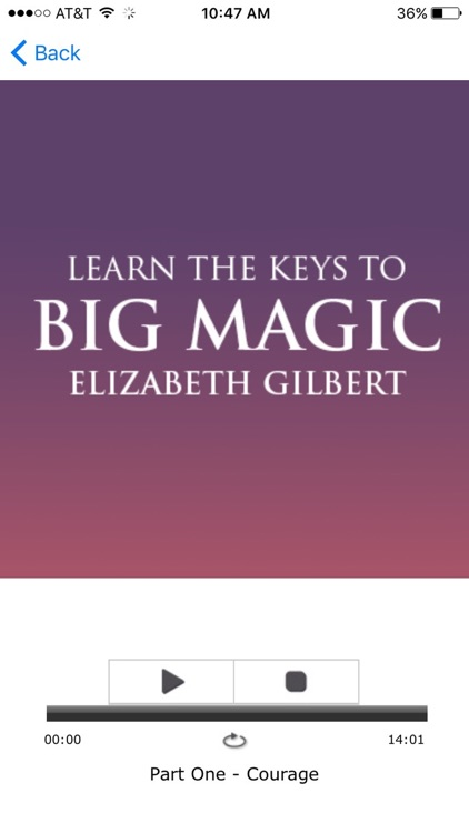 Big Magic - Elizabeth Gilbert Meditation Audiobook screenshot-3