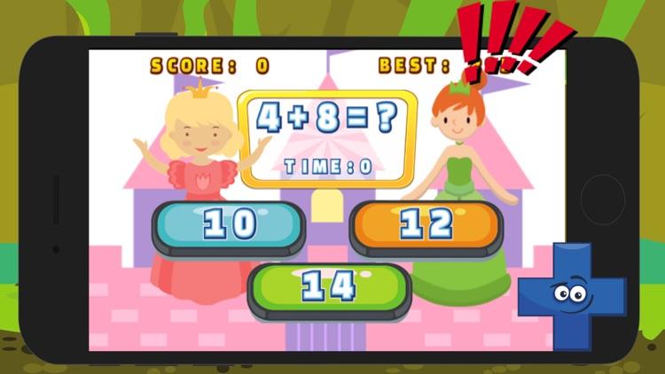 Princess Fast Math Problem Solver Games For Kids