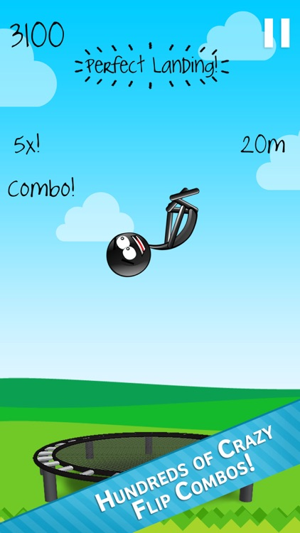 Stickman Trampoline PRO - Extreme Flip Action! screenshot-0