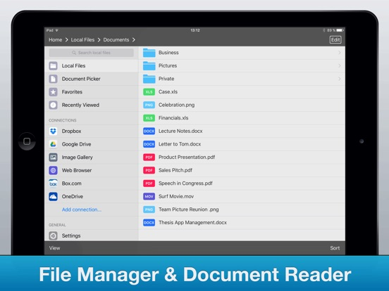 File Manager Pro App Screenshots