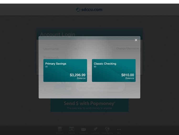 SDCCU Mobile Banking for iPad screenshot-3