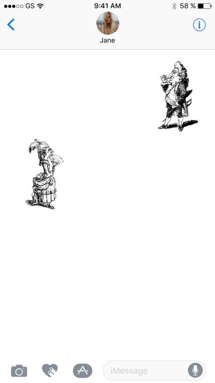 Line Caricature Sticker Pack