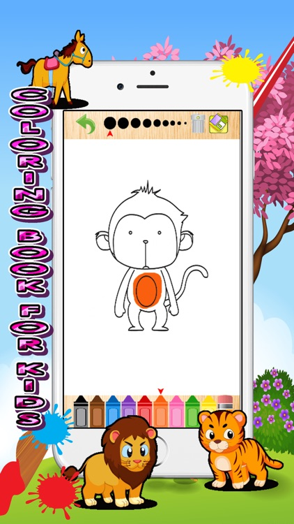 zoo animals card coloring book for kids screenshot-4