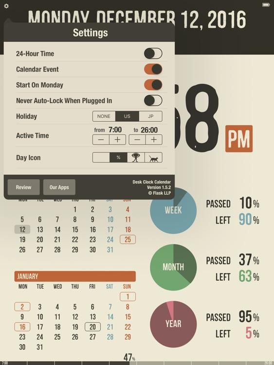 Desk Clock Calendar screenshot-3
