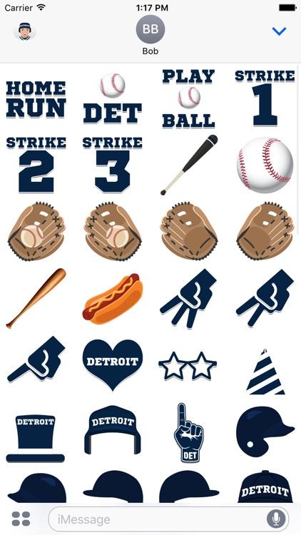 Detroit Baseball Stickers & Emojis screenshot-3
